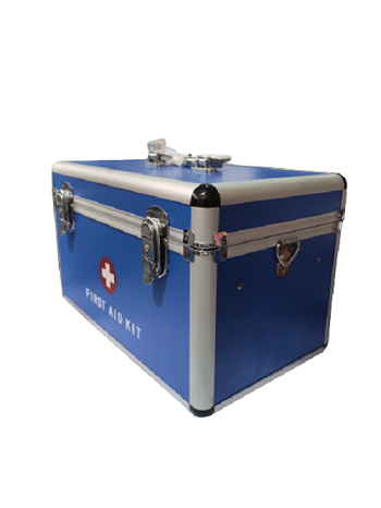Aluminum First Aid Box with Security Lock - (China Standard)