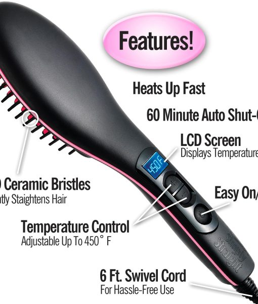 Simply Straight Ceramic Brush Hair Straightener Medistore BD 2