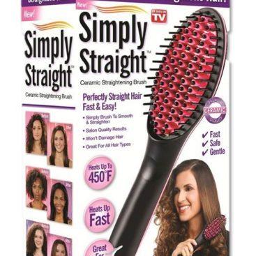 Simply Straight Ceramic Brush Hair Straightener Medistore BD 3