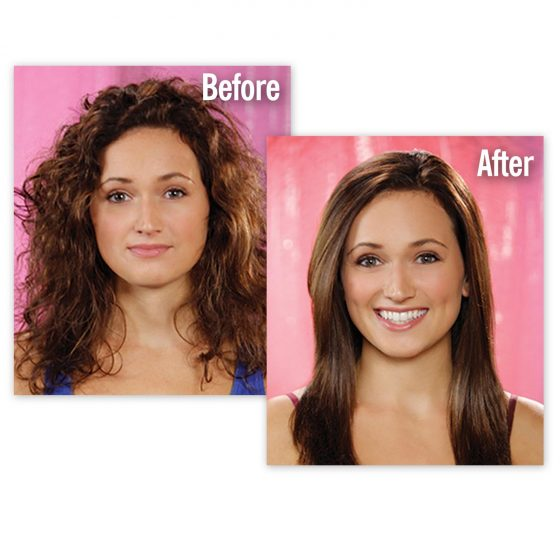 Simply Straight Ceramic Brush Hair Straightener Medistore BD 4