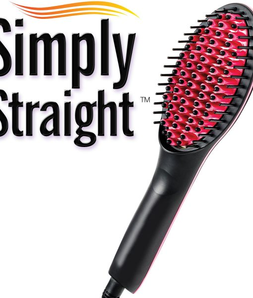 Simply Straight Ceramic Brush Hair Straightener Medistore BD