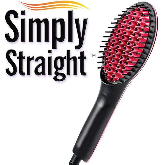 Simply Straight Ceramic Brush Hair Straightener Medistore BD