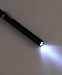 Hot-Sale-Free-Shipping-Mini-3W-LED-Pen-Torch-Flashlight-Light-1-Mode-Lamp-With-Belt