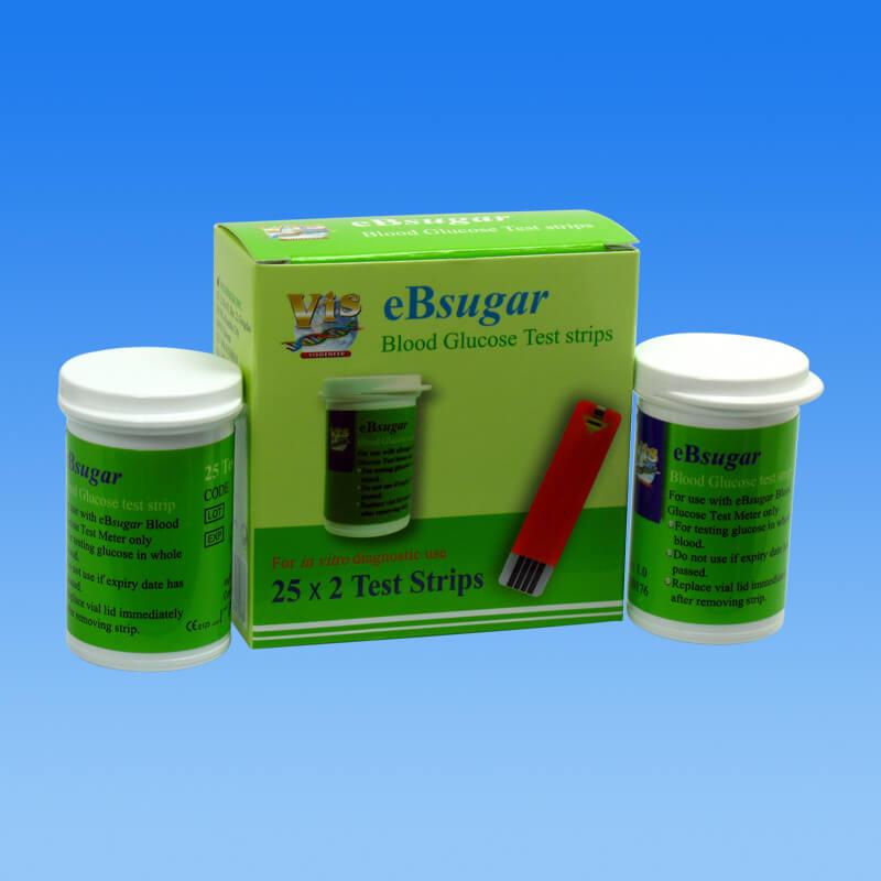 ebsugar glucometer test strip