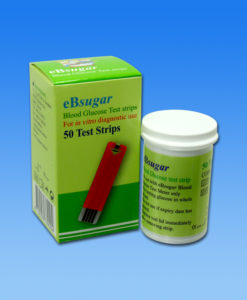 ebsugar glucometer test strip