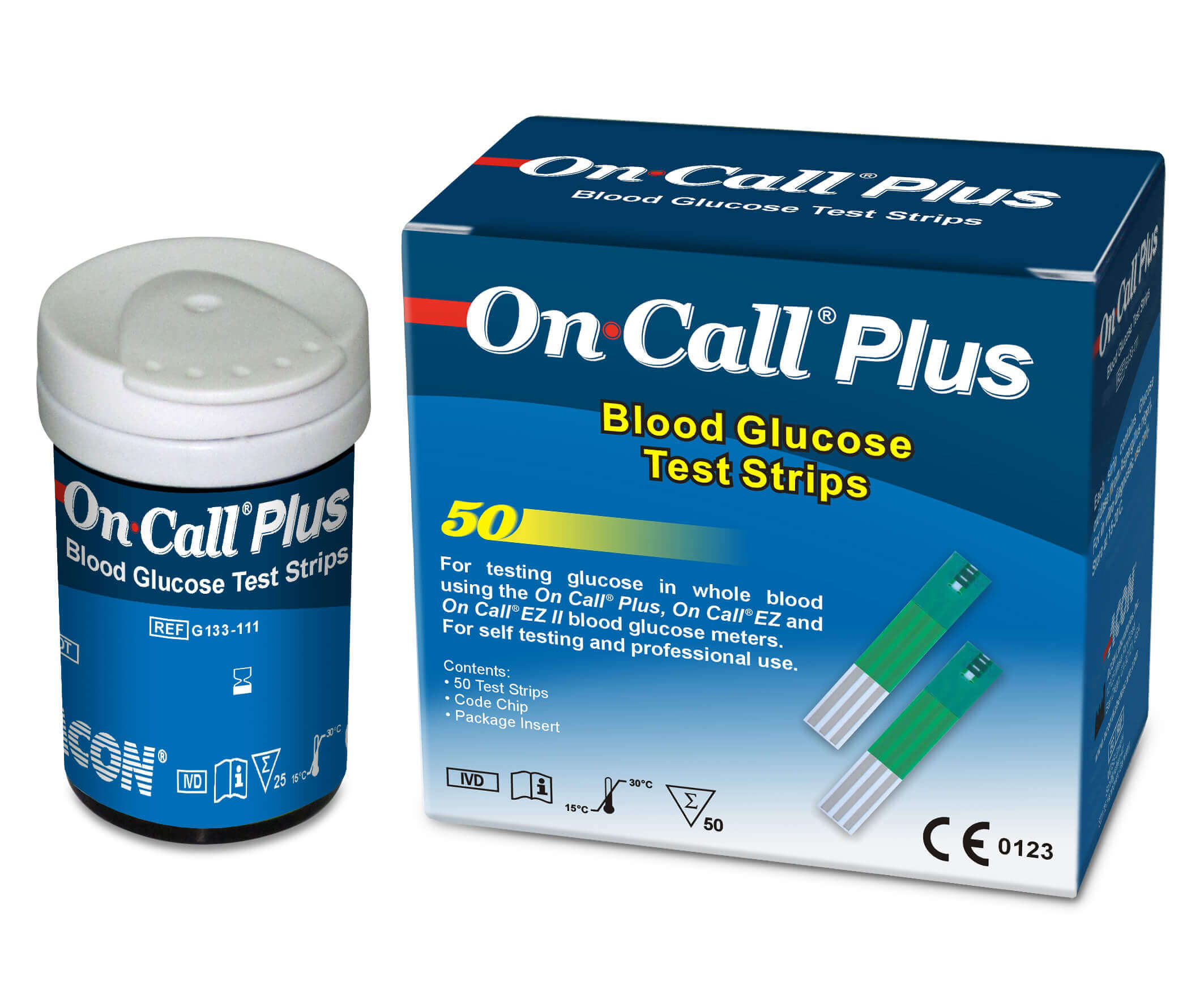 On Call Ez Ii Blood Glucose Monitoring System Test Strip