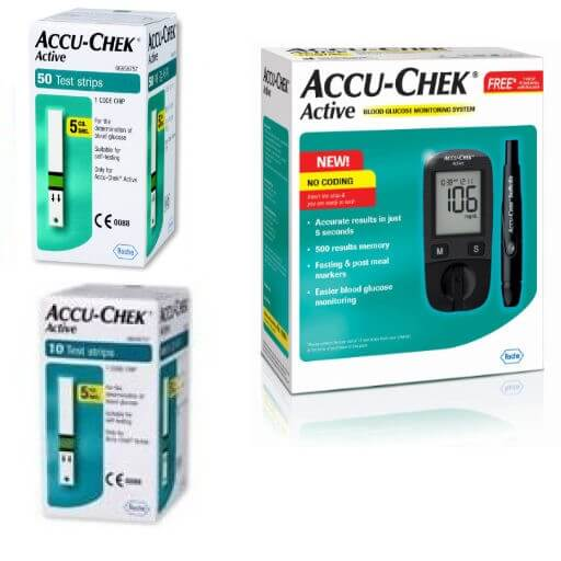 Accu Chek ACTIVE, Blood Glucose Test Strips (50 Strips) 4