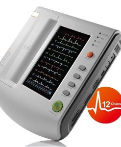 Digital Portable ECG Machine 12 Channel With Color Touch Screen