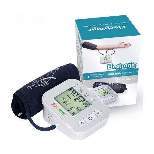 Digital Electronic Blood Pressure Monitor White