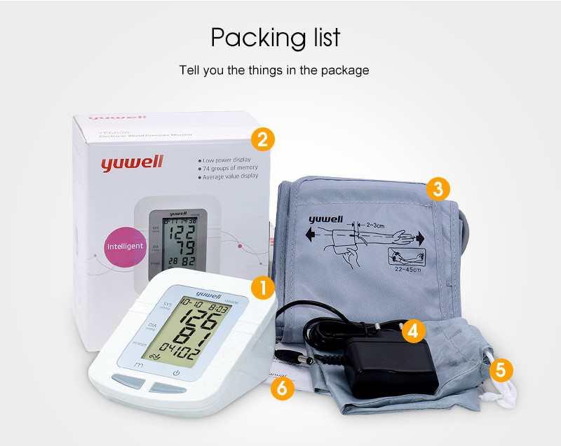 Yuwell Digital Blood Pressure Monitor YE660B